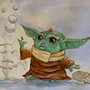 Baby Yoda Cleans Up